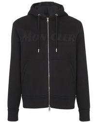 Moncler Hooded Cardigan - Black