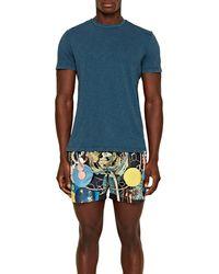 Orlebar Brown T-shit teint Sammy Gd à coupe classique - Bleu