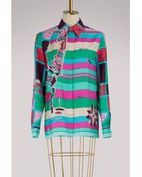 Emilio Pucci - Printed Silk-twill Shirt - Lyst