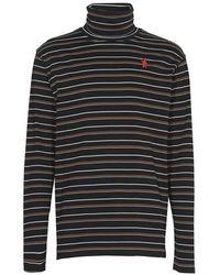 Marni T-shirt manches longues rayé - Noir