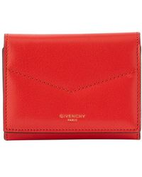 Givenchy Edge Tri-fold Wallet - Red