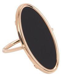 Ginette NY Ring Ellipse Onyx - Schwarz