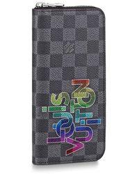 Louis Vuitton Zippy Vertical Geldbörse - Mehrfarbig