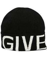 Givenchy Bonnet à logo - Noir