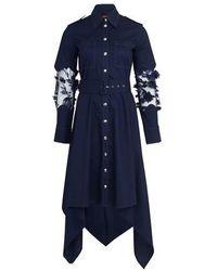 Thebe Magugu Shirt Dress - Blue