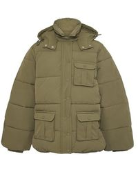 Ganni Heavy Tech Puff Jacket - Green