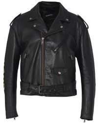 Balenciaga Painted Biker Jacket - Black