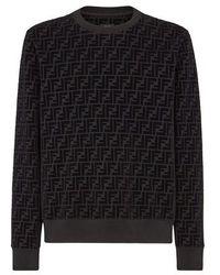 Fendi Piqué Sweatshirt - Black