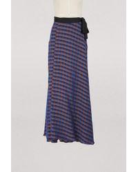 Forte Forte Long Wrap Skirt - Blue