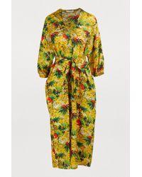 Roseanna Palm Print Dress - Multicolour