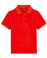 Vilebrequin Terry Cloth Polo Shirt Solid - Red