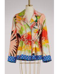 Gucci Tropical Bird Silk Pyjama Shirt - Multicolour