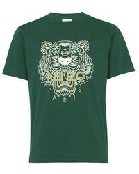 KENZO T-shirt Tigre - Vert