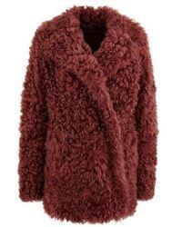 Sies Marjan Shearling Coat - Red