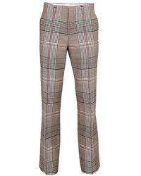 Burberry Pantalon de costume check Prince de Galles - Gris