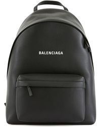 Balenciaga Everyday Leather Backpack - Black