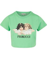 Fiorucci - Vintage Angels Cropped T-shirt - Lyst