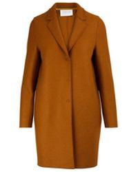 Harris Wharf London - Cocoon Coat In Felted Wool - Lyst