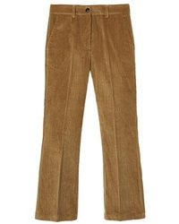 Momoní Indra Pants In Stretch Corduroy - Brown