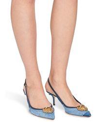 Dolce & Gabbana Slingback denim patchwork - Bleu