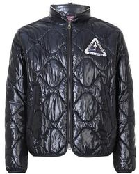 Louis Vuitton Quilted Patch Blouson With Packable Hood - Blue