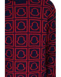 Moncler Pullover mit Logo - Rot