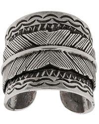 Gas Bijoux Cancun Penna Ring - Metallic