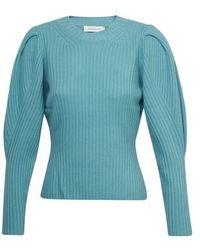 Zimmermann Ladybeetle Draped Sweater - Blue
