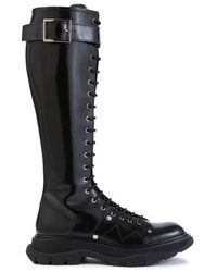 Alexander McQueen Lace-up Boots - Black