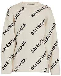 Balenciaga Pullover mit Logo - Mehrfarbig