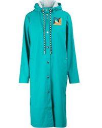 Proenza Schouler Hooded Raincoat - Blue
