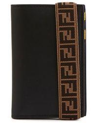 Fendi Cardholder With Ff Elastic - Black