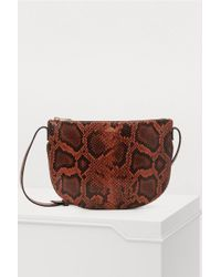 A.P.C. - Maelys Snake-effect Leather Shoulder Bag - Lyst