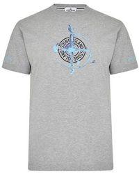 Stone Island T-shirt imprimé - Gris