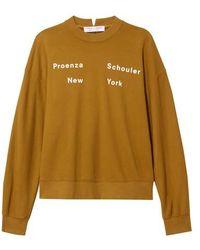 Proenza Schouler Cotton Sweatshirt - Multicolor
