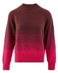 Dries Van Noten Wool And Alpaca Wool Sweatshirt - Red