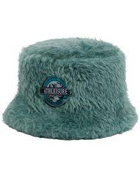 Alberta Ferretti Faux-fur Bucket Hat - Green