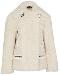 Tom Ford Fur Jacket - Natural