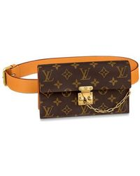 Louis Vuitton S Lock Belt Pouch Mm - Brown