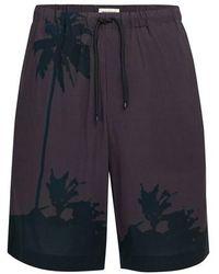 Dries Van Noten Piperi Shorts - Grey