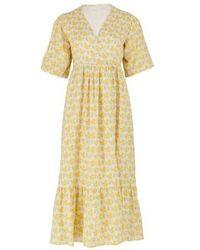 Faithfull The Brand Robe midi Thulla - Jaune