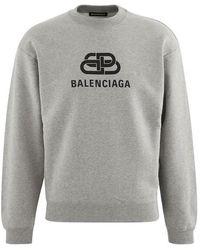 Balenciaga Paris Printed Sweatshirt - Grey