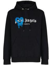 Palm Angels Sweatshirt à capuche - Noir