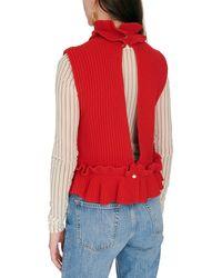 Ganni Rib Knit - Red