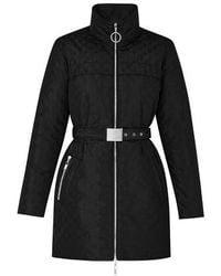 Louis Vuitton Manteau en taffetas Monogram - Noir
