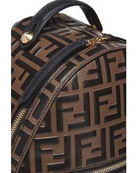 Fendi Ff Mini Backpack - Brown