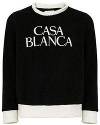 CASABLANCA Terry Sweater - Black