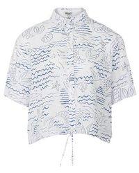 KENZO Cropped Shirt - Blue