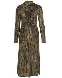 Stine Goya Asher Velvet Devore Long Dress - Multicolor