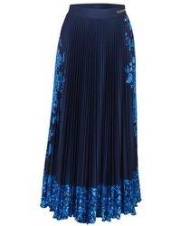 Valentino Jersey Printed Skirt - Blue